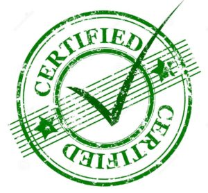 certified - stamp and mark