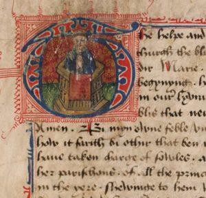 Древний текст на Среднеанглийском языке