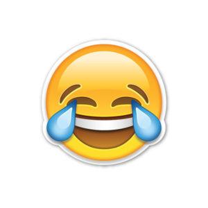 картинка смайлик лицо со слезами радости