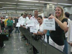 welcomers in airport