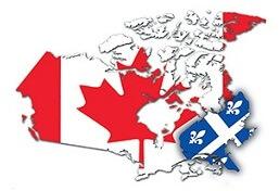 Квебек - единственная франкоговорящая провинция Канады
