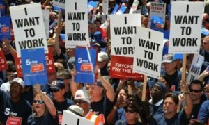 protesters I want to work