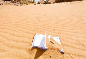 книга и песок, история слов