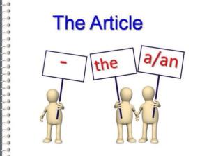 схема - три артикля английского языка